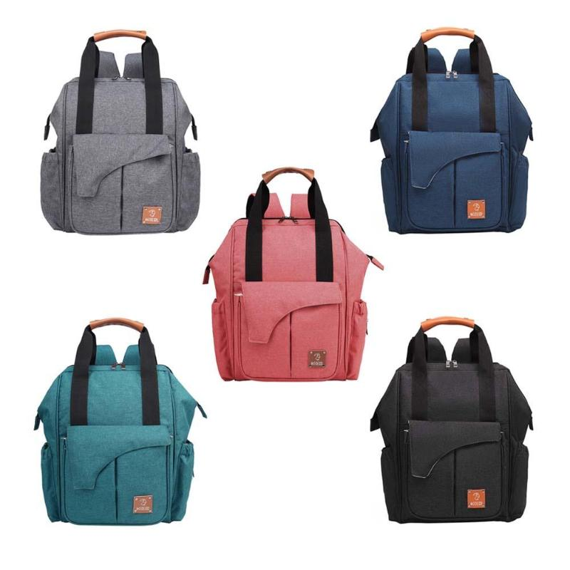 Multifunctional Fashion Mummy Diaper Bags Solid Color Backpack Baby Care Casual Maternity HandbagMultifunctional Fashion Mummy Diaper Bags Solid Color Backpack Baby Care Casual Maternity Handbag