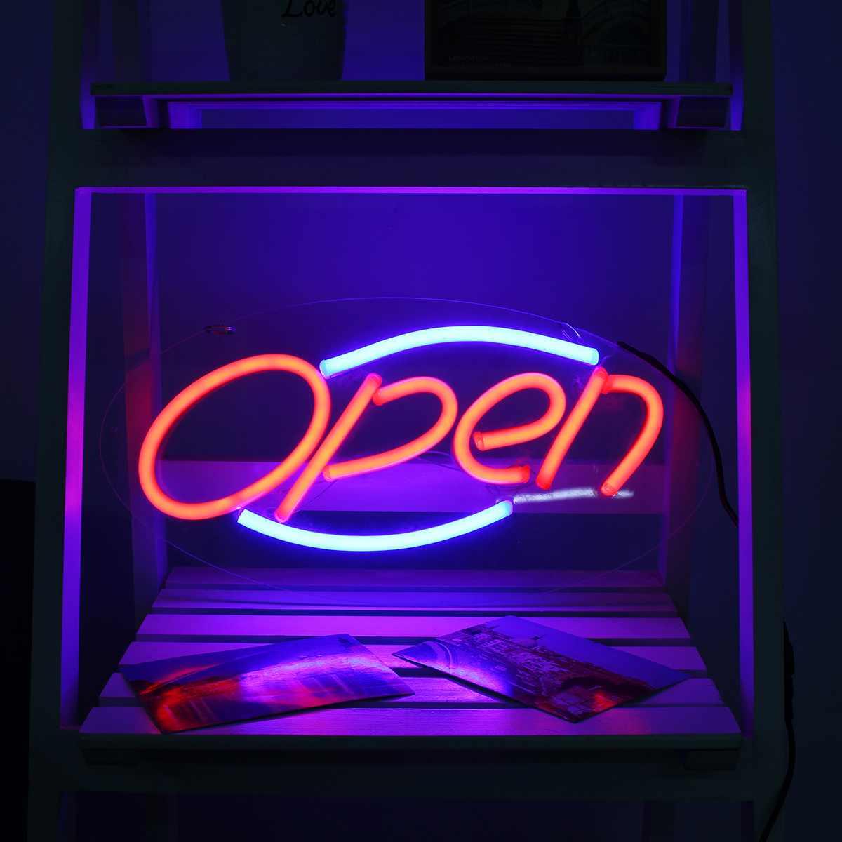 Enseigne au néon ouverte barre lumineuse Pub Club Studio affichage mural LED Tubes au néon panneau illustration visuelle éclairage décoration lampe de nuit