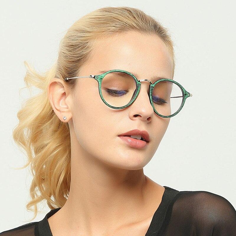 Brillenrahmen Aufstrebend Oulylan Vintage Runde Brillen Rahmen Frauen Holzmaserung Gläser Männer Retro Transparent Objektiv Optische Spektakel Rahmen Für Weibliche Bekleidung Zubehör