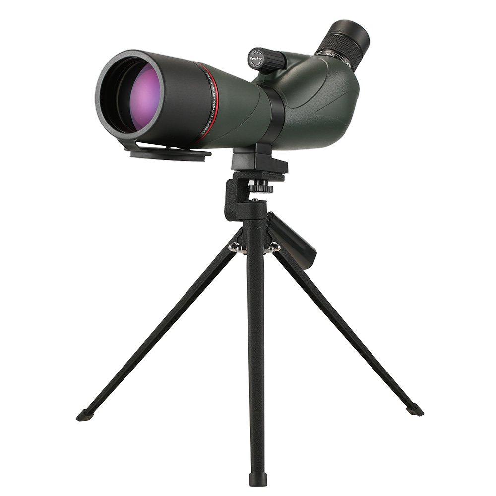 Eyeskey Angled Spotting Scope BaK4 Waterproof Fogproof Portable Scope Telescope with Tripod Carry Case for Camping