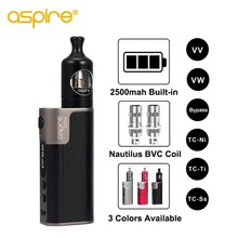 Electronic Cigarette Aspire Zelos 50W Starter Vape Kit 2500mah battery MTL E Cig 2ML Nautilus 2 Tank with 0.7ohm 1.8ohm BVC Coil