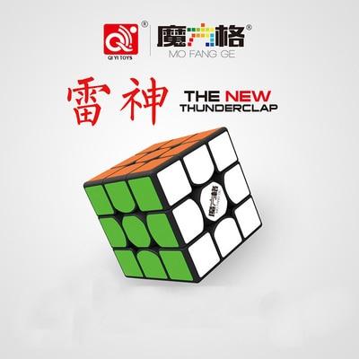Qiyi Thunderclap 4 Type Mofangge 5.7cm 3layer V2 Stickerless Valk 3 White Magic Cube Warrior W 3x3x3