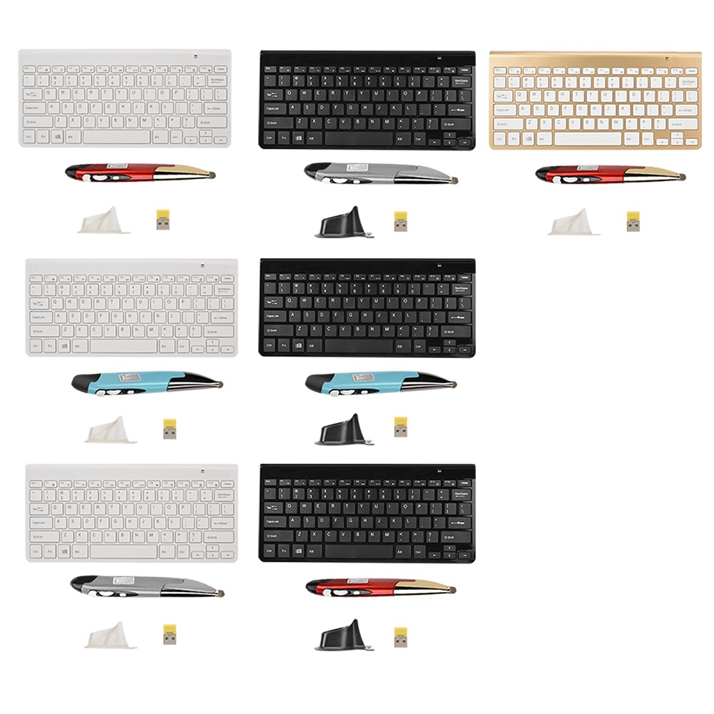 KM-909 mince Mini 2.4G sans fil clavier stylo souris ensemble pour ordinateur portable/bureau/Smart TV STB Etc avec haute qualité