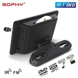 Image 2 - شاشة سيارة 10.1 بوصة DVD/USB/SD/MP5/FM جهاز إرسال IR/لعبة/مدخل فيديو HDMI/مخرج SH1068 DVD
