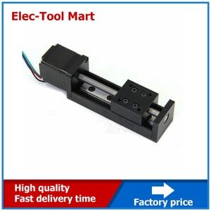 Image 5 - CNC MIni Linear Guide Rail Slide Actuator T6 Lead Screw Motion Stepper Motor Stroke 50 200MM