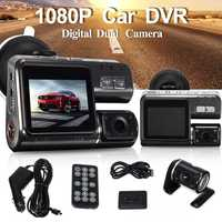 Full HD 1080P Car Vehicle DVR Camera Dash Cam Video Record G Sensor Dual Lens Dvr Cameras and Rear View Camera