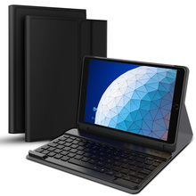 купить For iPad Air 3 2019 Case Detachable USA Wireless Bluetooth Keyboard Leather Flip Tablet Case For iPad Pro 10.5 Case Pen Holder дешево