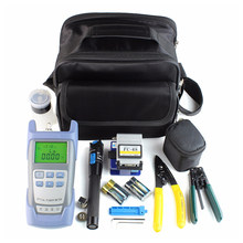 Portable Fiber Optic FTTH Tool Kit with FC-6S Fiber Cleaver & Power Meter Useful(China)
