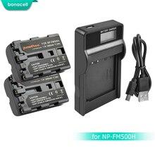 Bonacell 2400 мАч NP-FM500H NP FM500H NPFM500H Камера Батарея + ЖК-дисплей Зарядное устройство для sony A57 A58 A65 A77 A99 A550 A560 A580 Батарея L10