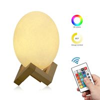 Rechargeable 3D Printed LED 16 Color Changed Light Remote Control Dinosaur Egg Shaped Nigh Light USB Dinosaur Egg Lamp Kids Gift
