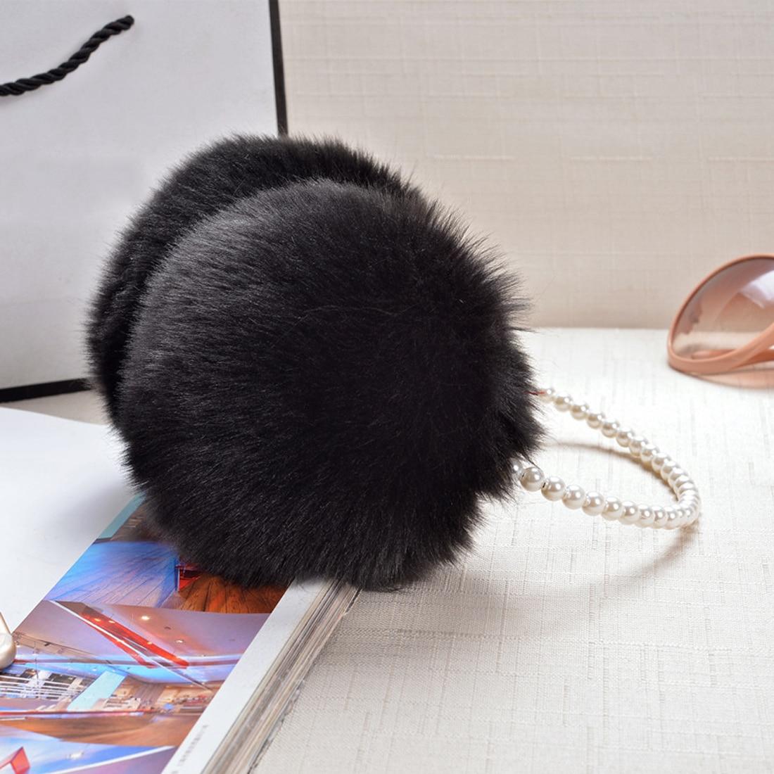 Comfortable Fashion Rabbit Fur Earmuffs Ear Muffs Ear Warmers Earmuffs Winter Outdoor Women Christmas Gifts