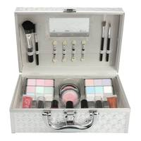 1 Set Children Princess Cosmetic Toys Girls Pretend Play Beauty Fashion Toy Kit Eye Shadow Lipstick Makeup Tool With Storage Box