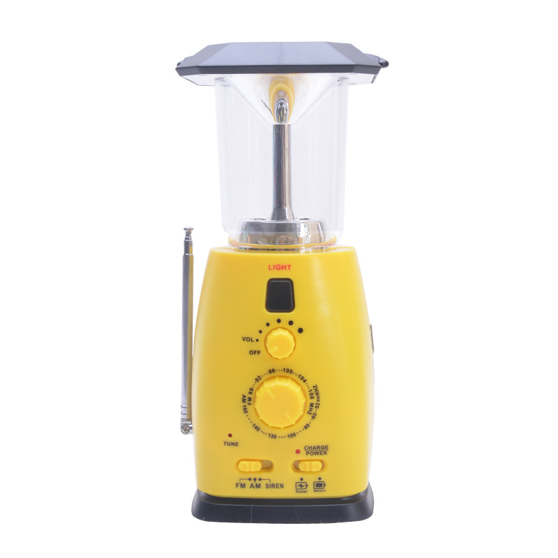 Multi function Lamp Solar Light Generator Portable Emergency Energy Saving Handle Work Radio for Outdoor Light