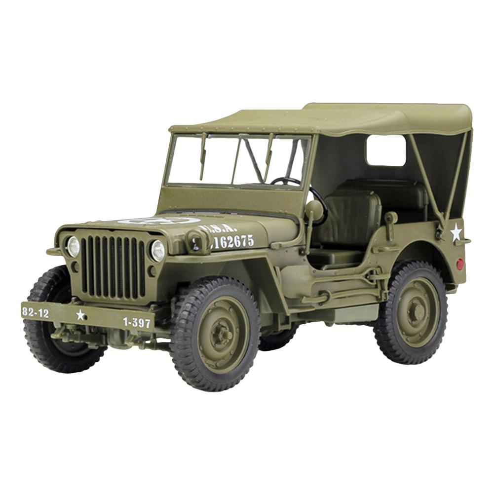 1:18 modèle militaire jouets Jeep 1941 Willys MB SUV moulé sous pression en métal modèle de voiture jouet pour enfants enfants modèle voiture jouet cadeau