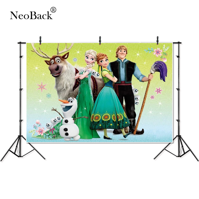Thin Vinyl Frozen Elsa Anna moose princess kids children Photography studio Backgrounds professional indoor Photo Backdrops