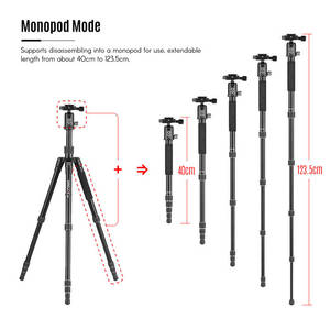 Image 4 - Kingjoy G22+G00 Portable Camera Tripod Monopod Travel With 360 Degree Ball Head For Canon Sony Nikon Dslr Ildc Cameras