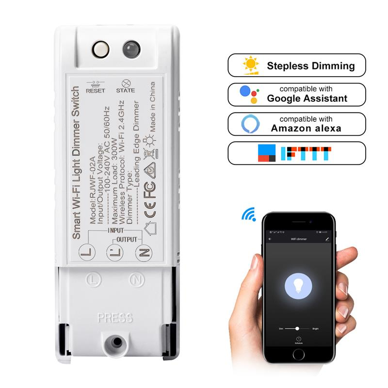 Wifi Switch Wireless Remote Control Relay Module Smart Home Automation Universal Lights Switches Works With Alexa Volume Large Switches Lights & Lighting