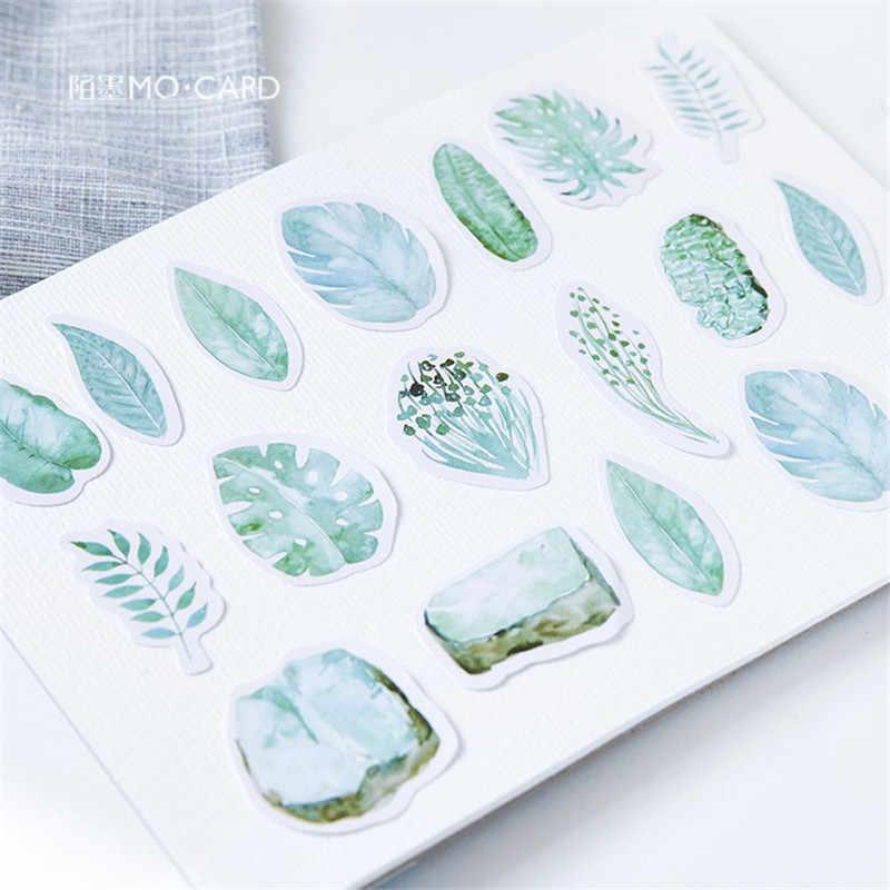 45 шт./пакет мини-бумажная наклейка s настольная игра милые листья стиль зеленые украшения Diy дневник, канцелярские товары этикетка наклейка Подарочная игрушка
