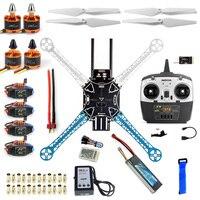DIY Drone QQ Controller Version Radiolink T8FB 2.4G TX&RX S500 PCB Multi Rotor Frame Full Kit Motor ESC F08191 K