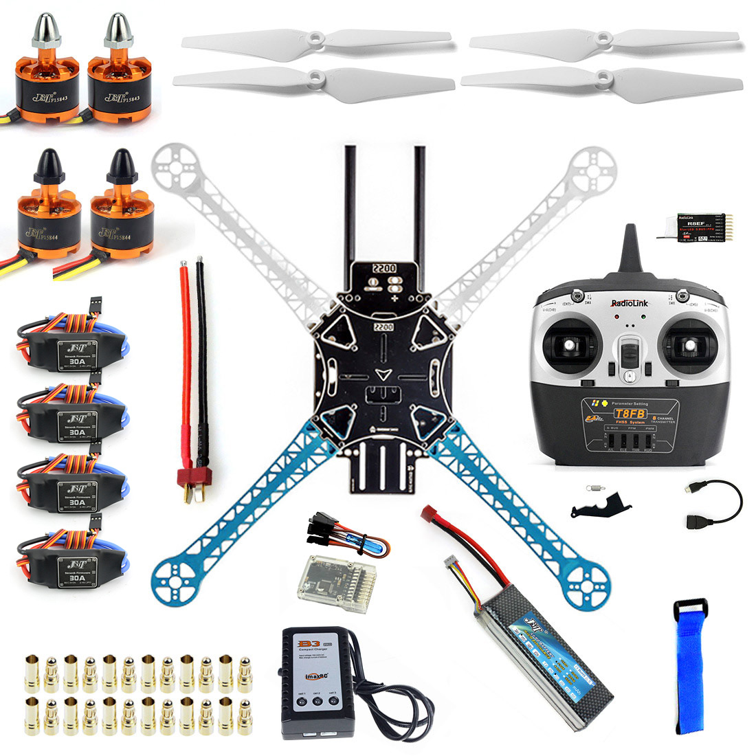 DIY Drone Kit And F450 Upgrade Quadcopter With High Strength Plastic Material