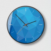 New 3D Wall Clock 12inch/14inch Silent Movement Large Size Quartz Round Modern Design Saat For Home