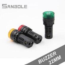 цена на Flash Alarm Indicator buzzer Light 22mm 12v 24v 110v 220v AD16-22SM Signal Lamp Red Green Yellow (10PCS)