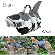 NEW Float Dog Life Jacket Shark Pet Swimming Life Jacket Vest Swimwear Safety Clothes For Small Large Dogs Swimwear S M L(China)