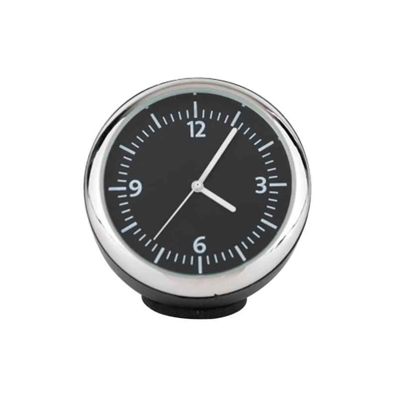 1pc  Luminous Mechanical Clock Thermometer Hygrometer Clock Steel Core Pointer For Car Vehicle