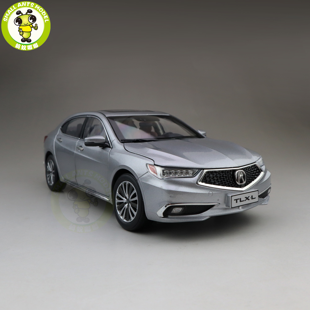 1/18 ACURA TLX L TLX-L Diecast Metal Car Model Toys For Kids Boy Girl Gift Collection Hobby Silver