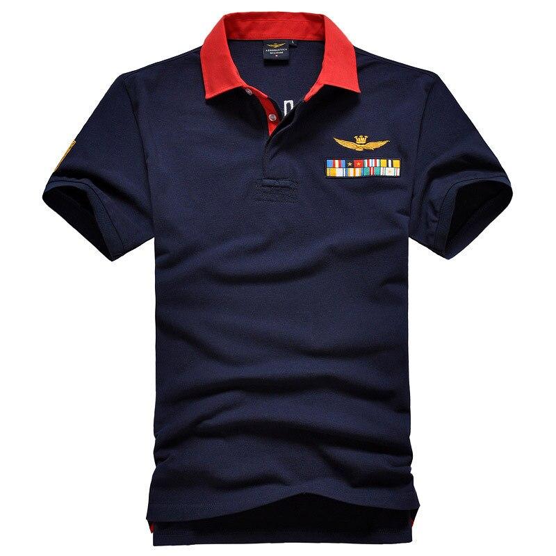 Aeronautica Militare Maschi Eden   Polo   Man Short Shirts Air Force Park Men's Embroidery Shirts Men Wear Short Sleeve   Polo   Shirts