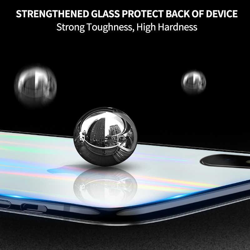 Ihaitun luxo caso de vidro do laser para o iphone 11 pro max xs max xr x casos capa de vidro de volta transparente para o iphone 10 7 8 mais macio