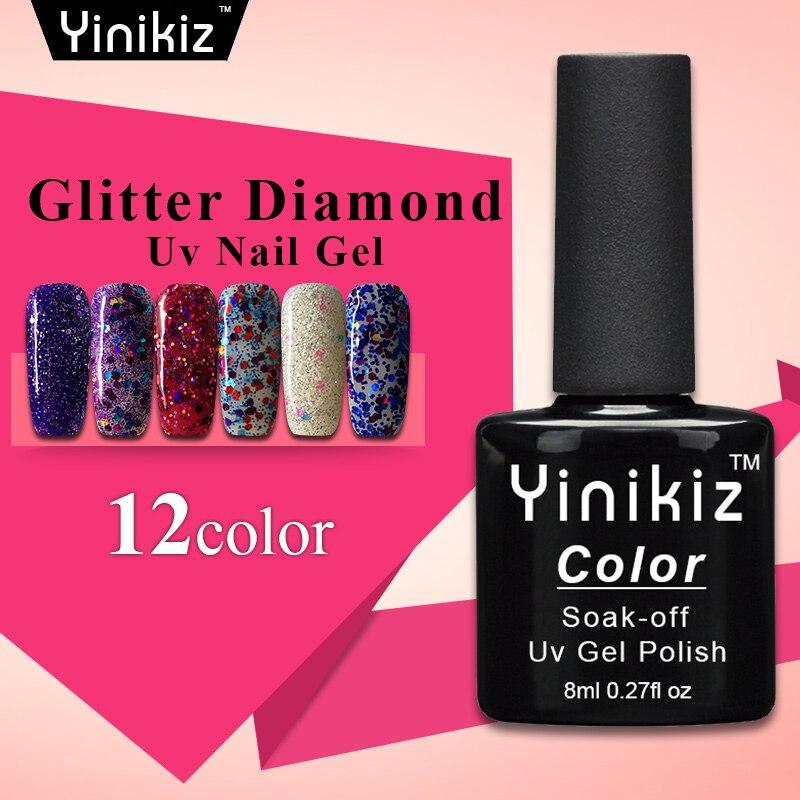 Yinikiz очаровательный Алмазный Гель лак отмачиваемый Полупостоянный хит продаж