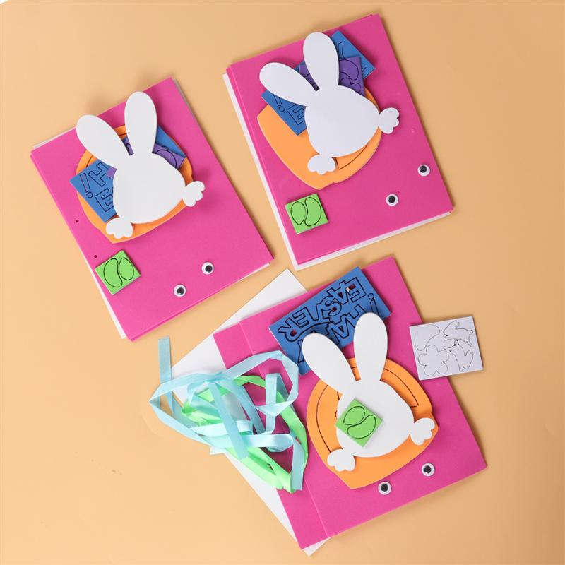 Us 3 47 49 Off Easter Greeting Cards Making Kit Handmade Cute Cartoon Blessing Cards Invitation Card Educational Toys Diy For Children Kids In Party