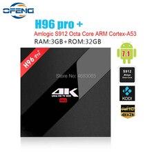 H96 PRO + плюс Смарт ТВ Box Amlogic S912 Android 7,1 Octa Mali-T820MP3 GPU 2G/16G 3g/32G 2,4 г/5,8 ГГц Wi-Fi комплект bluetooth компьютерной приставки к телевизору