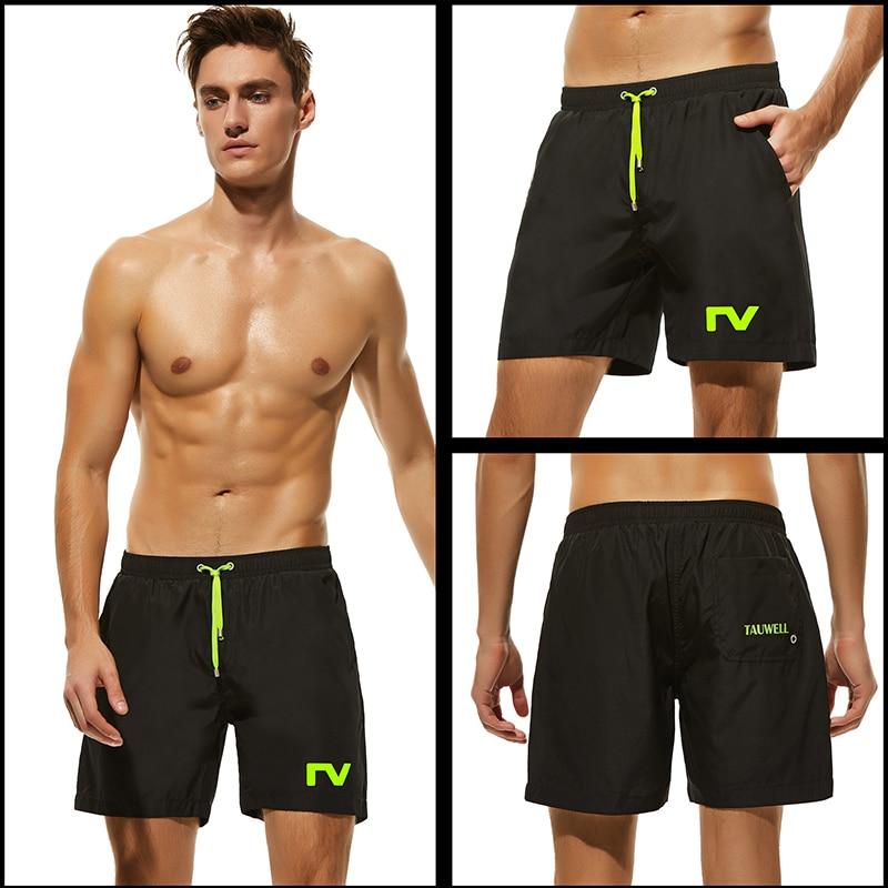 Preto dos Homens Mais Novo Board Shorts Quick Dry Surf Sólida Solto Praia Swim Curto s m l xl Calças Homem Poliéster Maiô 2020
