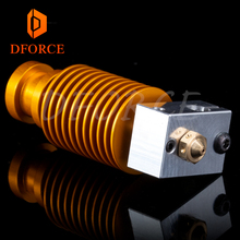DFORCE High quality customization gold heatsink hotend V6 nozzle J-head heater block heat break for E3D PT100
