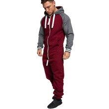 ALL IN ONE Men's Jumpsuit Fleece Nigtwear Pyjama hoodie zip Onesie Sleep Lounge Adult Sleepwear One Piece Pyjamas Male Onesies all in one piece