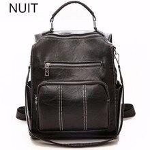 Fashion Soft Leather Backpack Women Luxury Travel School Bag Fashion Black Bag Pack Mochilas Mochila Mujer Plecak Rucksack недорго, оригинальная цена