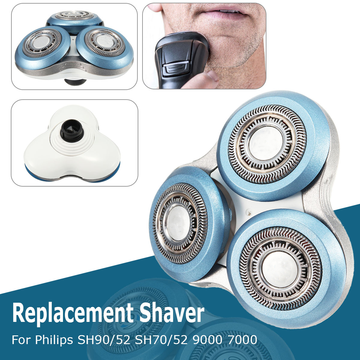 Replacement Shaver Head For Philips SH90/52 SH70/52 9000 7000 RQ12 RQ11 Series Shaving Unit Razor