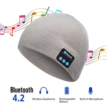 все цены на Soft Warm Beanie Hat Earphone Wireless Bluetooth Smart Cap Headset Headphone Speaker Mic Bluetooth Hats S2 онлайн