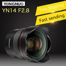 цена на YONGNUO 14mm F2.8 Ultra-wide Angle Prime Lens YN14mm Auto Focus AF MF Metal Mount Lens for Canon and for nikon