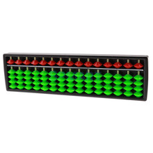 Chinese Abacus 15 Bars Red Green Beads Arithmetic Number Counting Baby Tool Maths Educational Toys For Childern Early Learning цены