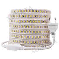 120 LED s/m 220 V 5730 LED bande Super lumineux étanche flexible LED bande lumière froid/blanc chaud 1 m/2 m/3 m/4 m/5 m/10 m/20 m/50 m/100 m