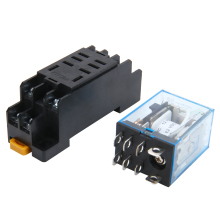 5 Set General Purpose 12V DC Coil Power Relay LY2NJ DPDT 8Pin HH62P JQX-13F With Socket Base Sealed