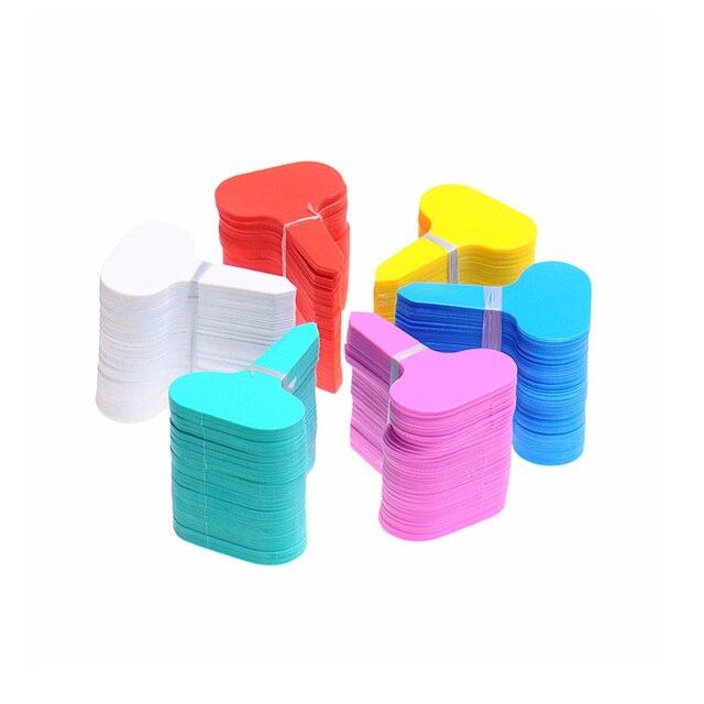 50 pcs di Plastica Molti colori T-tipo di scuola materna piante Etichette vaso d