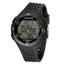ffb046be7 IG-اللياقة البدنية الرياضة ساعة رقمية نبض مراقب معدل ضربات القلب و شريط  للصدر اللون: أسود