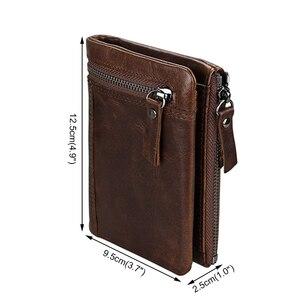 Image 2 - Ataxzome本革財布メンズショートコイン財布ヴィンテージブランド耐磁rfid財布ナチュラル牛革メンズギフトW3580