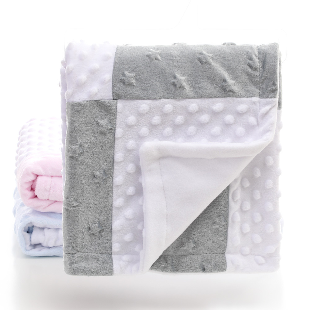 High Quality Baby Blanket Winter Flannel Fleece Blanket Supersoft Infant Swaddle Stroller Wrap For Newborn Baby Bedding Blankets