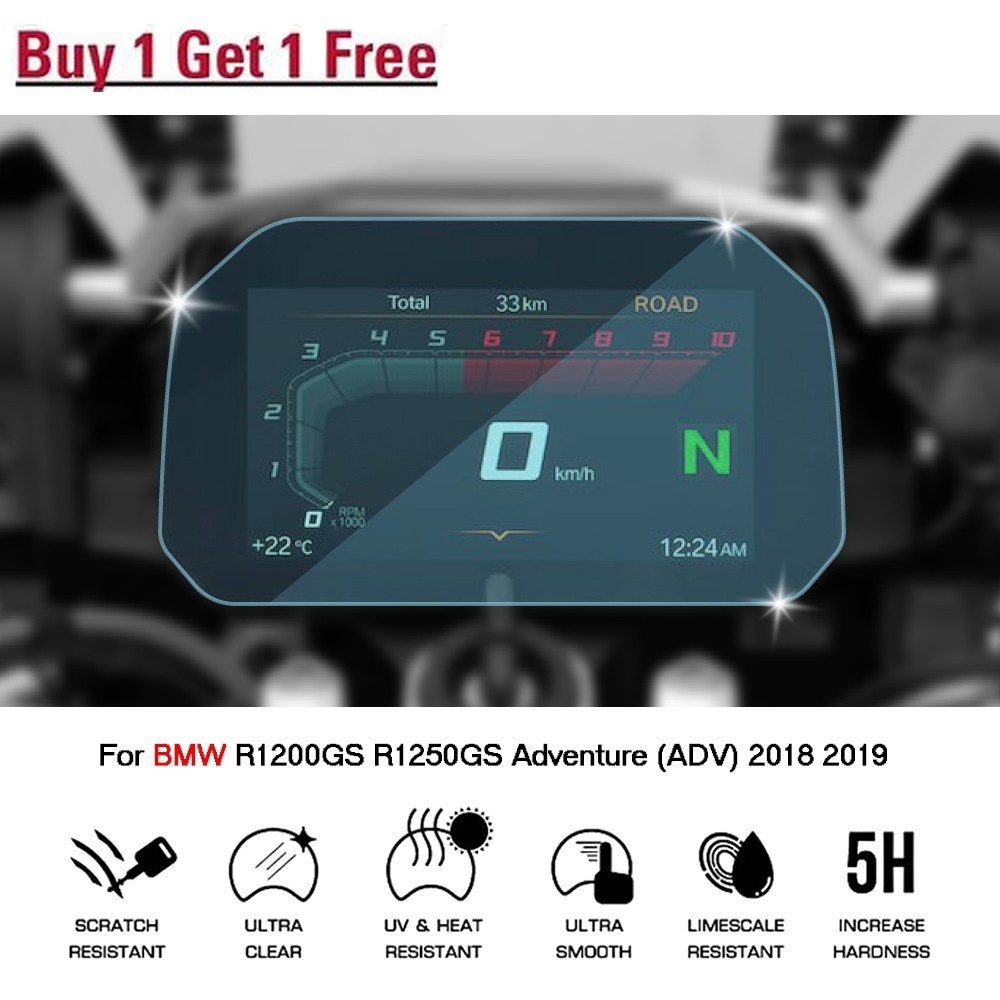 Cluster Scratch Protection Film Screen Protector For BMW <font><b>R1200GS</b></font> <font><b>Adventure</b></font> 2018 motorbike R 1200 GS 2018 <font><b>LC</b></font> <font><b>Adventure</b></font> image