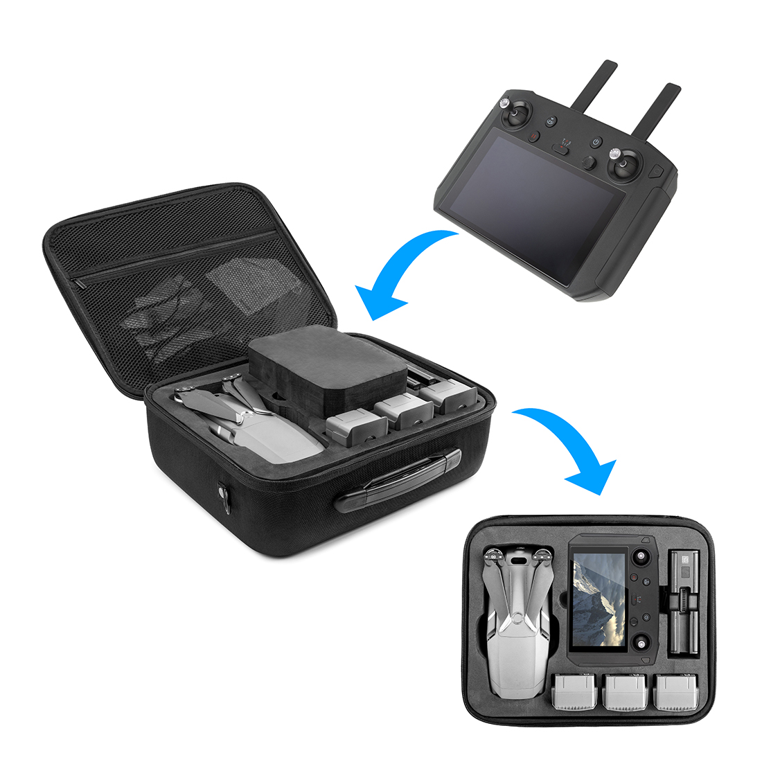 for Mavic 2 Pro Zoom Drone Case Waterproof Battery Filter Charger Storage Bag Strap Handbag for